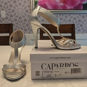 Silver Metallic Maddy Caparros Shoes